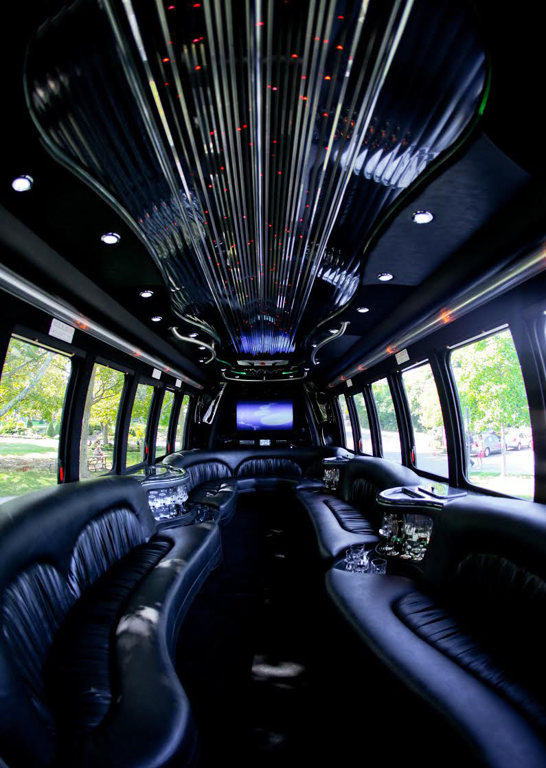 Windsor 22 Passenger Limo Bus Interior